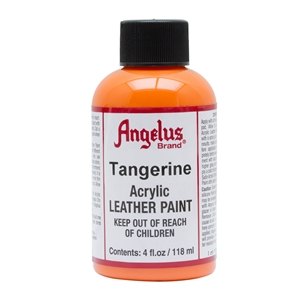 Angelus Acrylic Leather Paint 4 fl oz/118ml Bottle. Tangerine 265