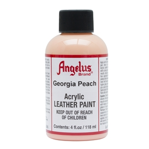 Angelus Acrylic Leather Paint 4 fl oz/118ml Bottle. Georgia Peach 266