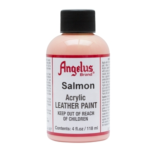 Angelus Acrylic Leather Paint 4 fl oz/118ml Bottle. Salmon 267