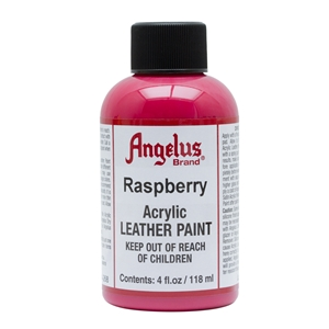 Angelus Acrylic Leather Paint 4 fl oz/118ml Bottle. Raspberry 268
