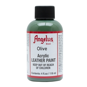 Angelus Acrylic Leather Paint 4 fl oz/118ml Bottle. Olive 272