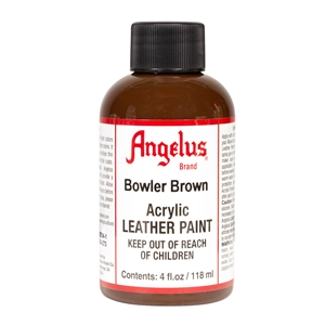 Angelus Acrylic Leather Paint 4 fl oz/118ml Bottle. Bowler Brown 273