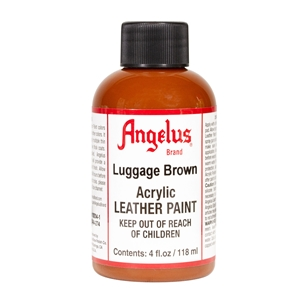 Angelus Acrylic Leather Paint 4 fl oz/118ml Bottle. Luggage Brown 274