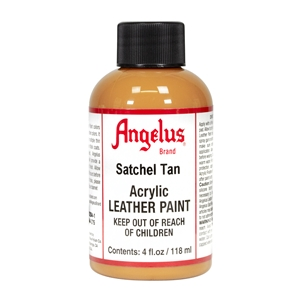Angelus Acrylic Leather Paint 4 fl oz/118ml Bottle. Satchel Tan 275