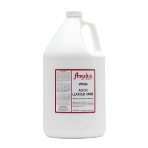 Angelus Acrylic Leather Paint Gallon/3785ml Can. White 005
