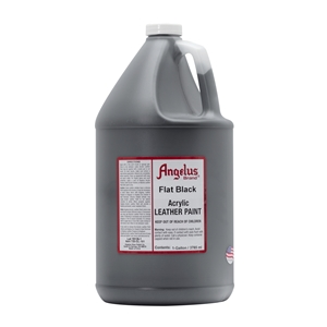 Angelus Acrylic Leather Paint Gallon/3785ml Can. Flat Black 101