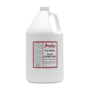 Angelus Acrylic Leather Paint Gallon/3785ml Can. Flat White 105