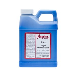 Angelus Acrylic Leather Paint Pint/473ml Bottle. Blue 040