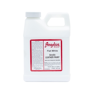 Angelus Acrylic Leather Paint Pint/473ml Bottle. Flat White 105