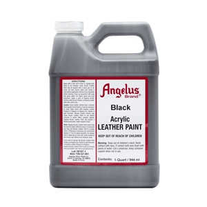Angelus Acrylic Leather Paint Quart/946ml Bottle. Black 001