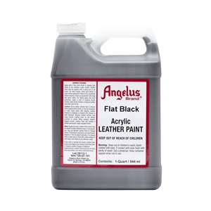 Angelus Acrylic Leather Paint Quart/946ml Bottle. Flat Black 101