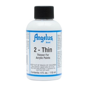 Angelus 2-Thin Thinners for Reducing Viscosity. 4 fl oz/119ml Bottle