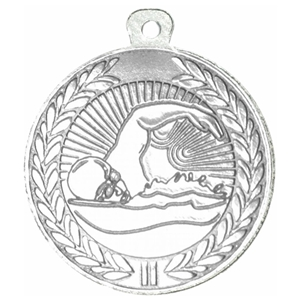 45mm Swimming Medal - Silver