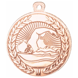 45mm Swimming Medal - Bronze