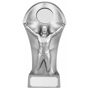 13.5cm Resin Male Victory Award. Silver