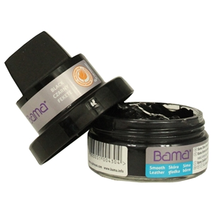 Bama Shoe Cream Dumpi Jar with Applicator Sponge Black 09 50ml