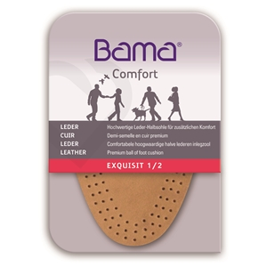 Bama Exquisit Leather Half Insoles, Ladies Large Size 6-7, Euro 39-40