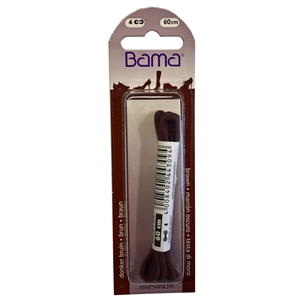 Bama Blister Packed Cotton Laces 60cm Round 033 Brown
