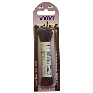 Bama Blister Packed Cotton Laces 120cm Round 033 Brown