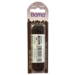 Bama Blister Packed Cotton Laces 120cm Cord 033 Brown