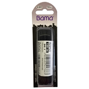Bama Blister Packed Laces 150cm Hiking Cord 009 Black