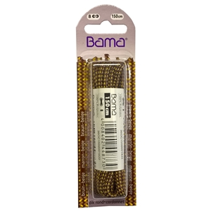 Bama Blister Packed Polyester Laces 150cm Hiking Cord 422 Medium Brown / Beige