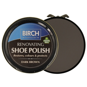 Birch Renovating Polish 50ml Dark Brown