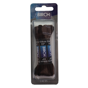 Birch Blister Pack Laces 150cm Cord Brown