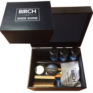 BIRCH Shoe Shine Box, Large