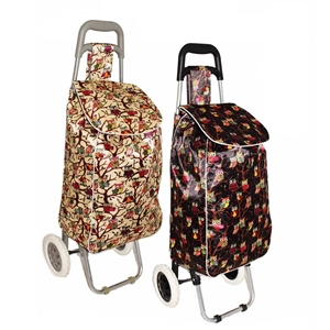 Borderline Shopping Trolley ST06 Owl Patterns - Black or Beige