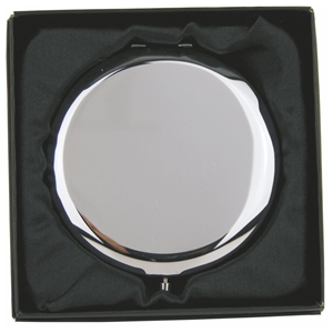 Plain Round Compact Mirror Hinged In Gift Box