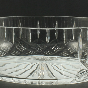 20cm Bowl With Engraving Panel Hand Cut Crystal