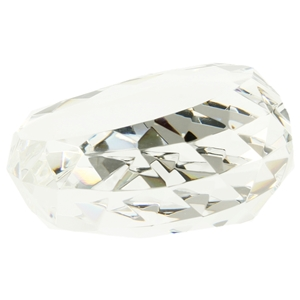 8.5cm Angled Facet Edged Glass Paperweight