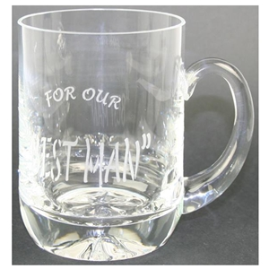 R04063 1 Pint Glass Tankard Best Man