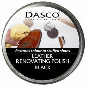 Dasco Renovating Shoe Polish Black 50ml
