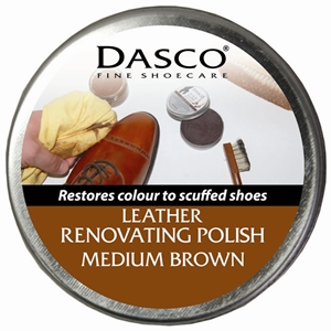 Dasco Renovating Shoe Polish Medium Brown 50ml