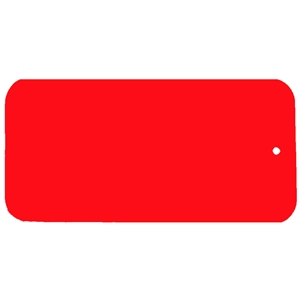 Blank Key Tag 75mm x 40mm C03 - Red/White/Red