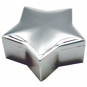 Star Trinket Box Silver Plated 7.5x7.5x2.5cm