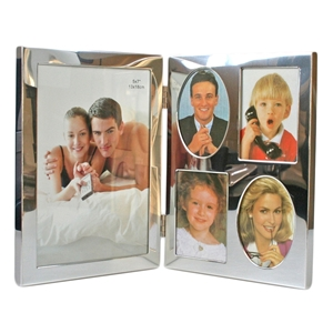 5x7 Inch Hinged Silver Plated Picture Frame