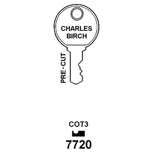 Hook 7720 Cot3 Window Key 7272