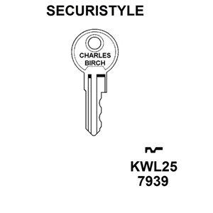 Securistyle Window Lock Key KWL25 , HD WL022A ,