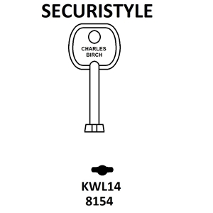 KWL14 Securistyle Window Key