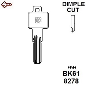 Silca BK61, BKS Security Dimple Blank