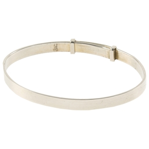 925 Silver Christening Bangle - Plain