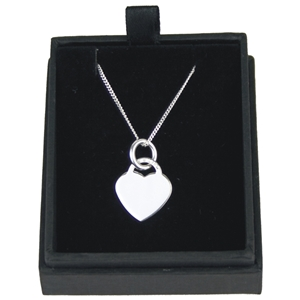 925 Silver Heart Pendant On 18 Inch Chain