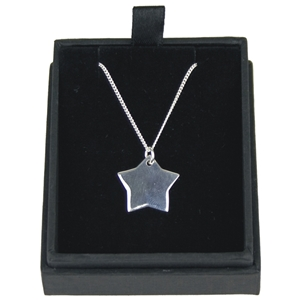 925 Silver Star Pendant On 18 Inch Chain