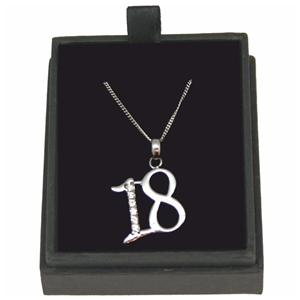 925 Silver 18 Necklace With Cubic Zirconia 18 Inch Chain