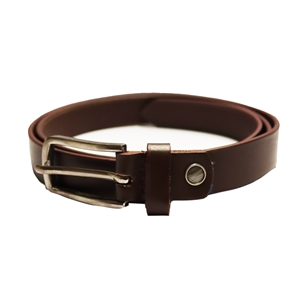 Birch Full Grain Leather Belt Smooth Finish 26mm Brown Large (36-40 Inch)
