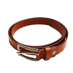 Birch Full Grain Leather Belt Smooth Finish 26mm Tan Medium (32-36 Inch)