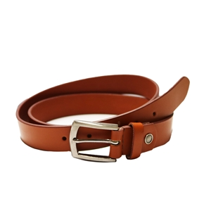 Birch Full Grain Leather Belt Smooth Finish 30mm Tan Medium (32-36 Inch)